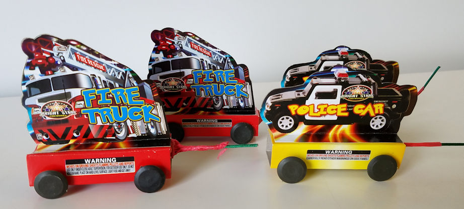 Fire Truck & Police Car