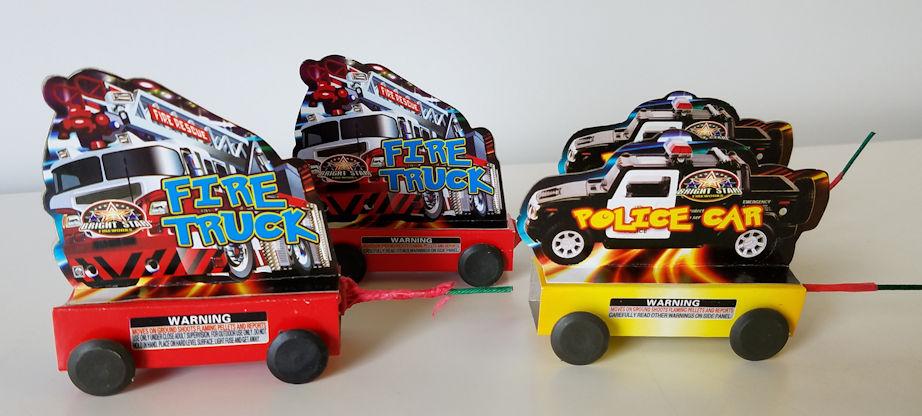Fire Truck & Police Car